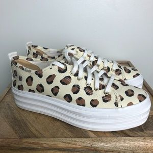 KEDS Triple Up Leopard Platform Sneakers